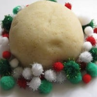 christmas theme play dough