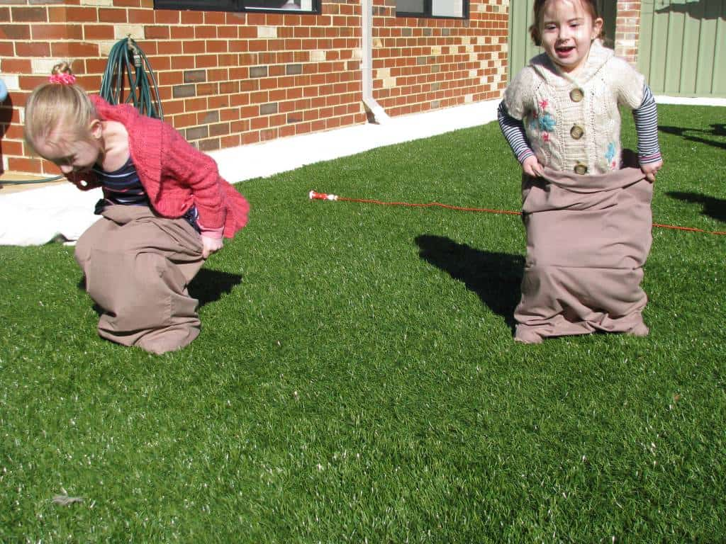 Pillow case hoppers learning 4 kids for Childrens play yard
