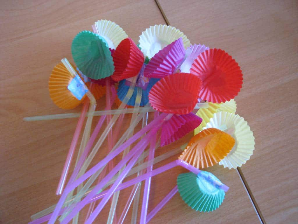 Straw flowers learning 4 kids - Things made out of straws ...