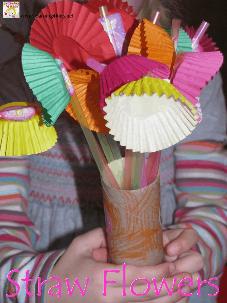 Straw Flowers Learning 4 Kids