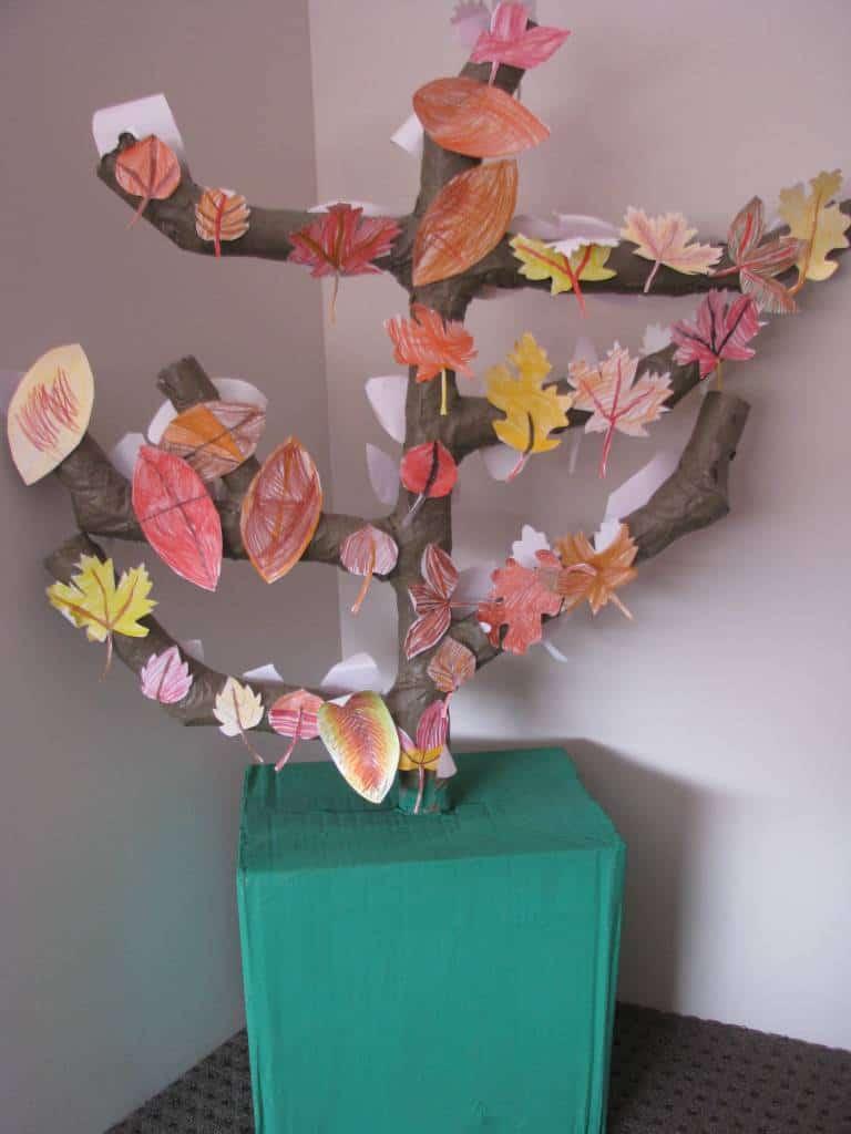 Paper Mache Autumn Fall Tree Learning 4 Kids