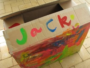 Jack is hiding down in his box.....