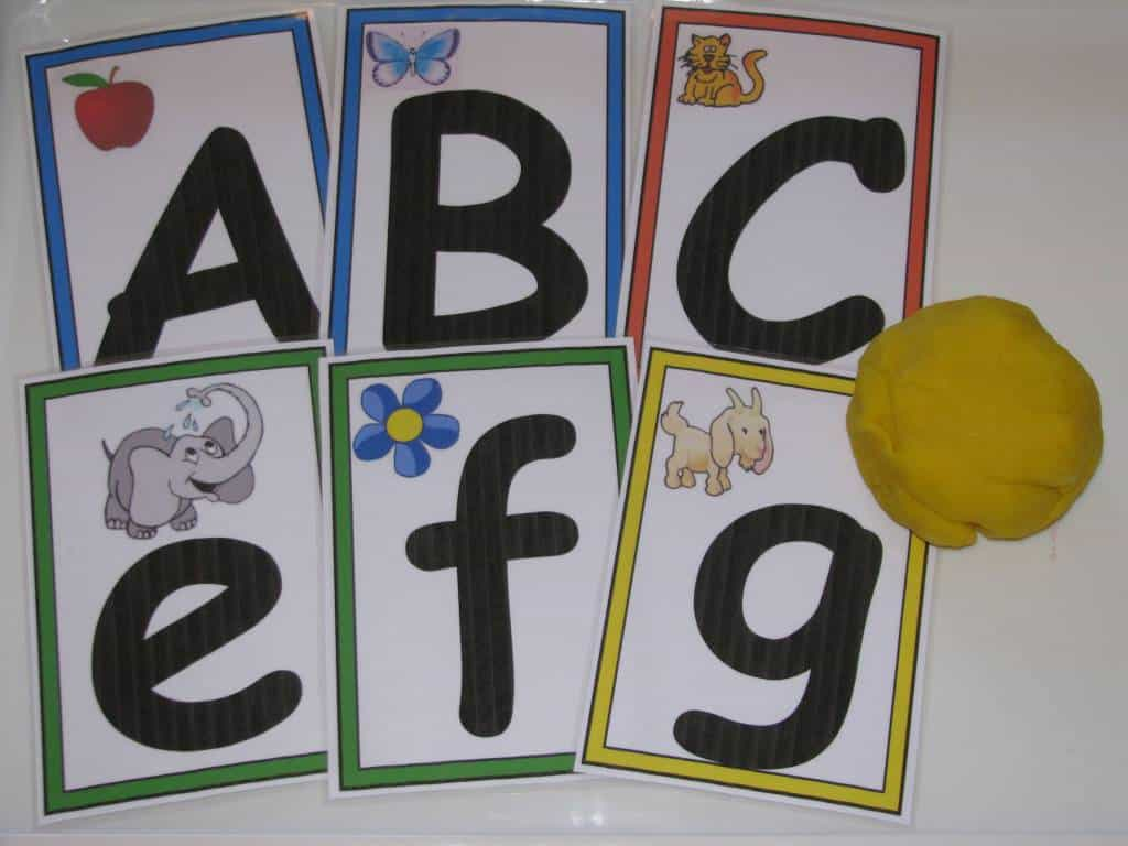 Alphabet Play Dough  Learning  Kids