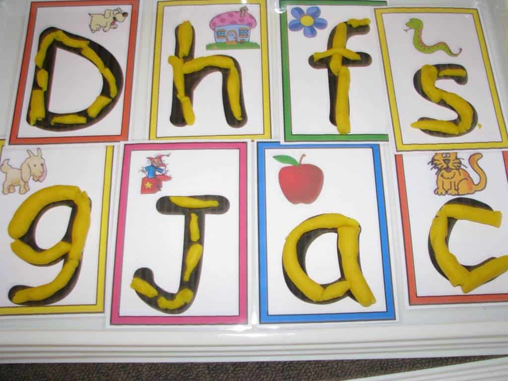 Alphabet Play Dough | Learning 4 Kids