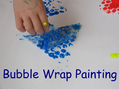 painting activities to learn about shapes