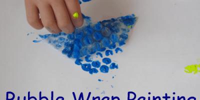 Shapes bubble wrap painting