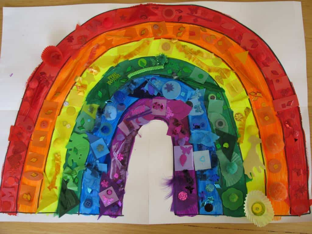 Rainbow Collage Learning 4 Kids