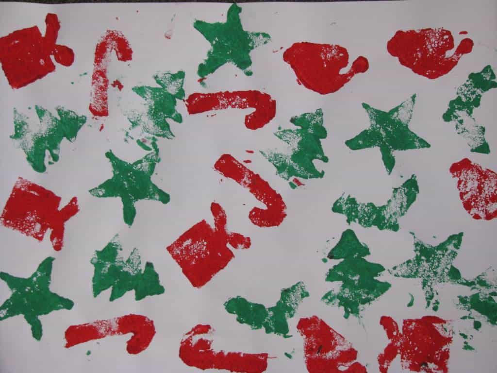 Homemade christmas gift wrap learning kids