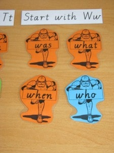 Activities for sight words