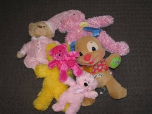 Gather all teddy bears you have in the house