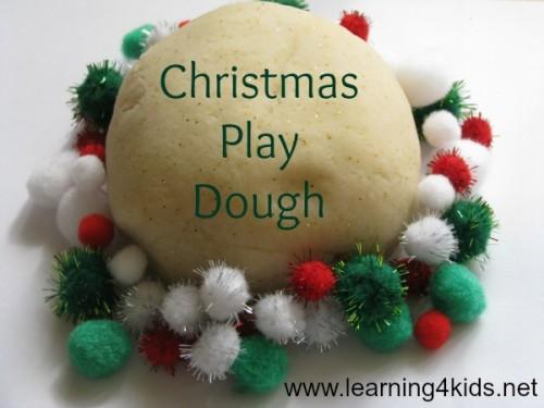Christmas play dough recipe