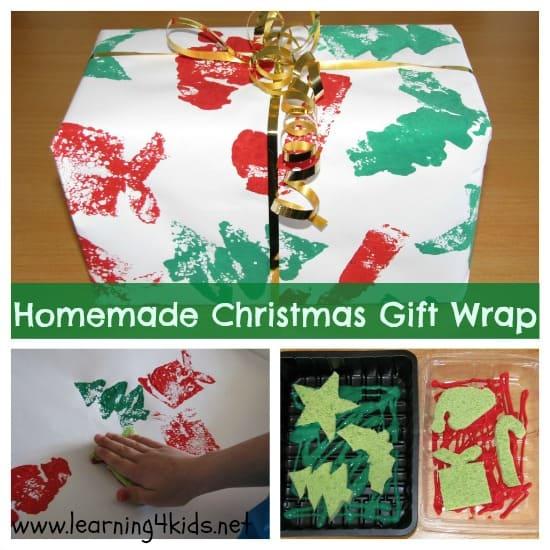 Homemade Christmas Gift Wrap
