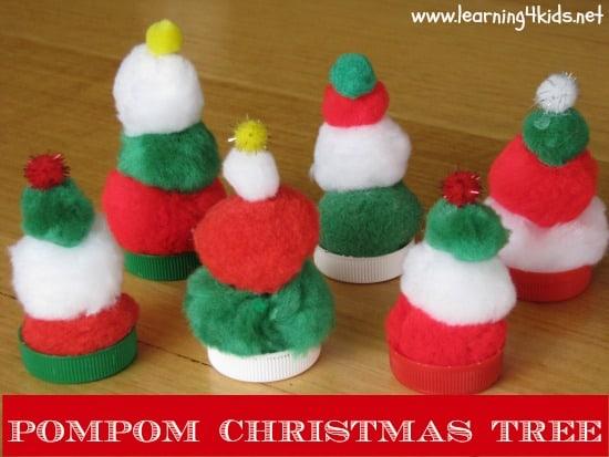 Pompom Christmas Trees
