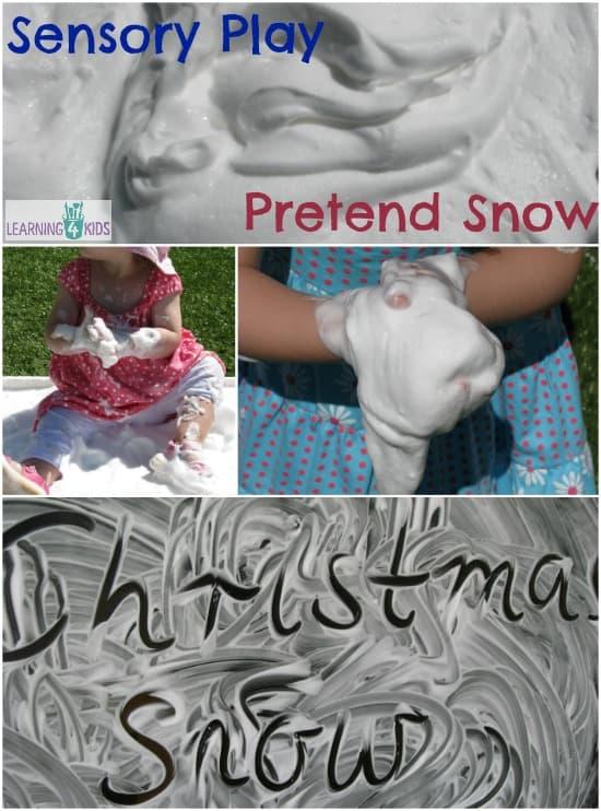 Sensory Play with Pretend Snow