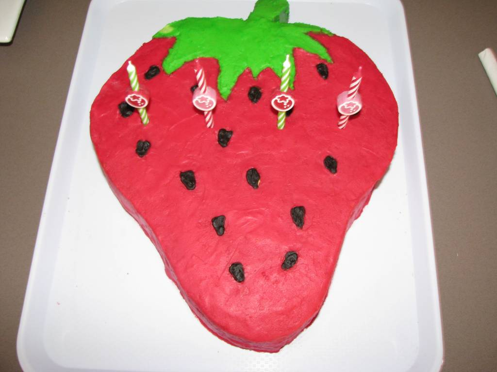 Strawberry Theme Birthday Cake Learning 4 Kids