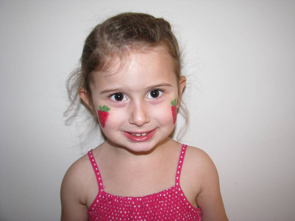 Strawberry Face Painting | Learning 4 Kids