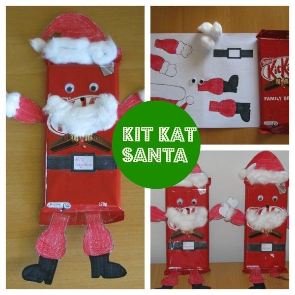 Homemade Teacher Gift Idea - Kit Kat Santa | Learning 4 Kids