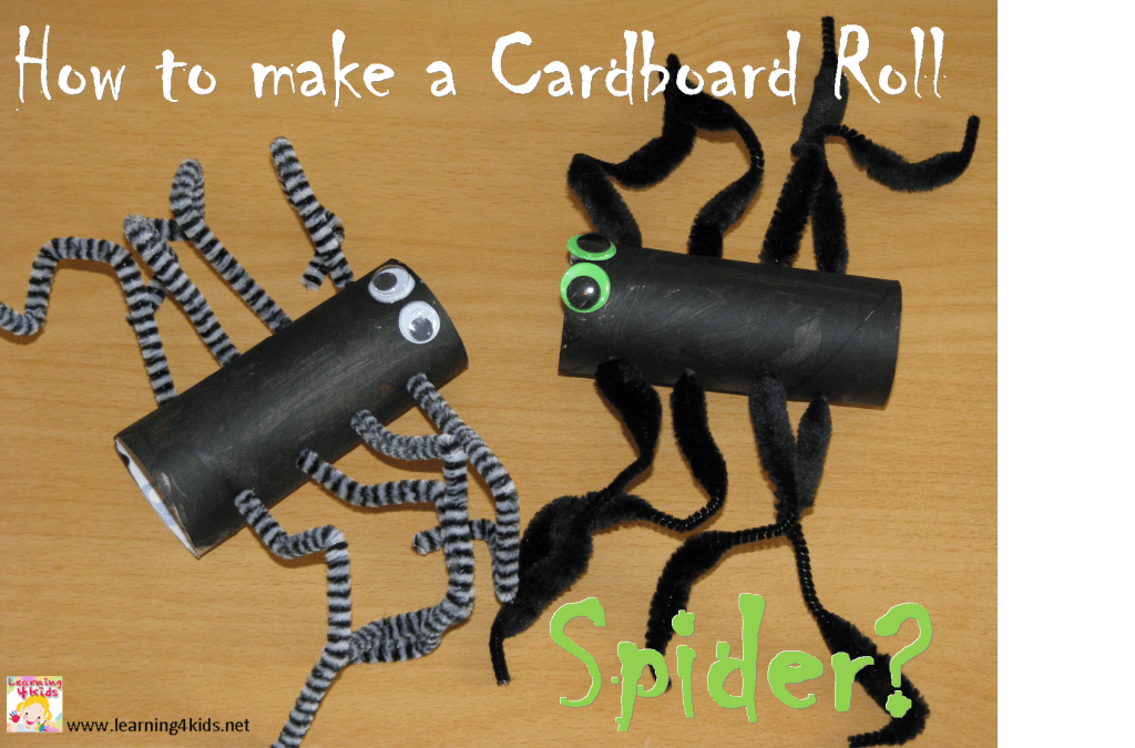 How To Make A Cardboard Roll Spider Learning 4 Kids