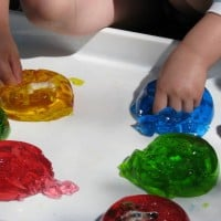 hiding objects, alphabet letters, numbers in jelly