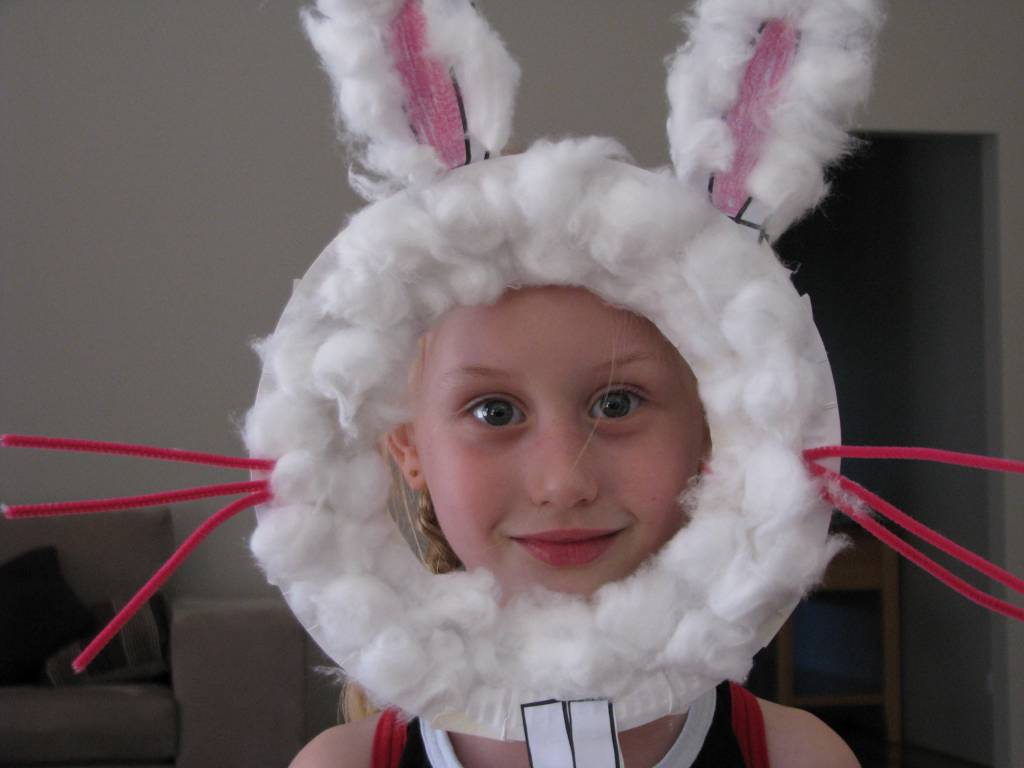 Paper plate easter bunny mask learning 4 kids paper plate easter bunny masks jeuxipadfo Images