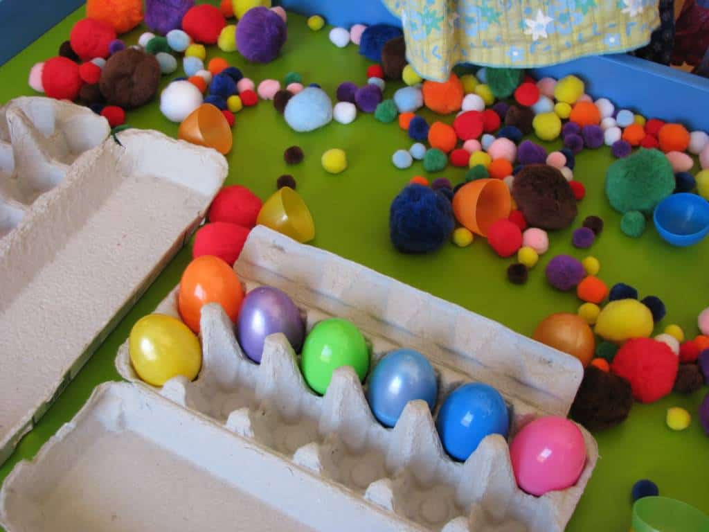 Easter Sensory Play Table Learning 4 Kids