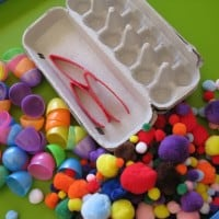 ideas for an easter sensory tub or table