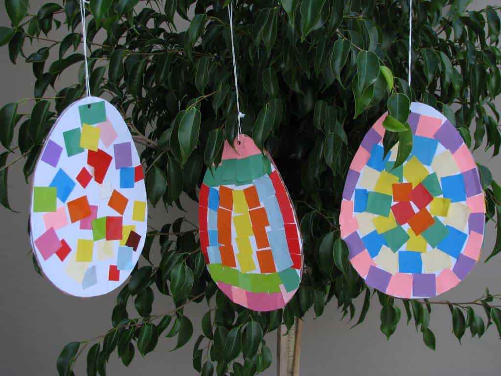 colourful pattern easter eggs learning 4 kids
