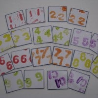 homemade number chart
