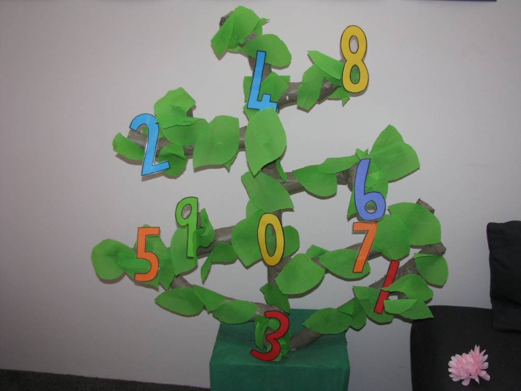 Classroom Tree Ideas ~ Number tree display learning kids