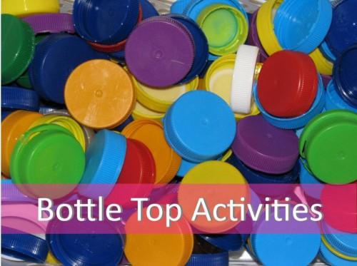 Activity ideas using bottle caps