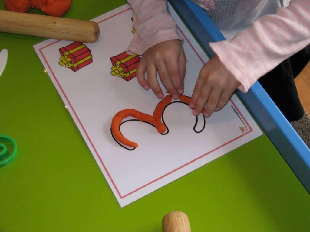 ... shape and then creating the shape of the number using the Number Mats