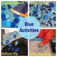 learning the colour blue with hands on activities