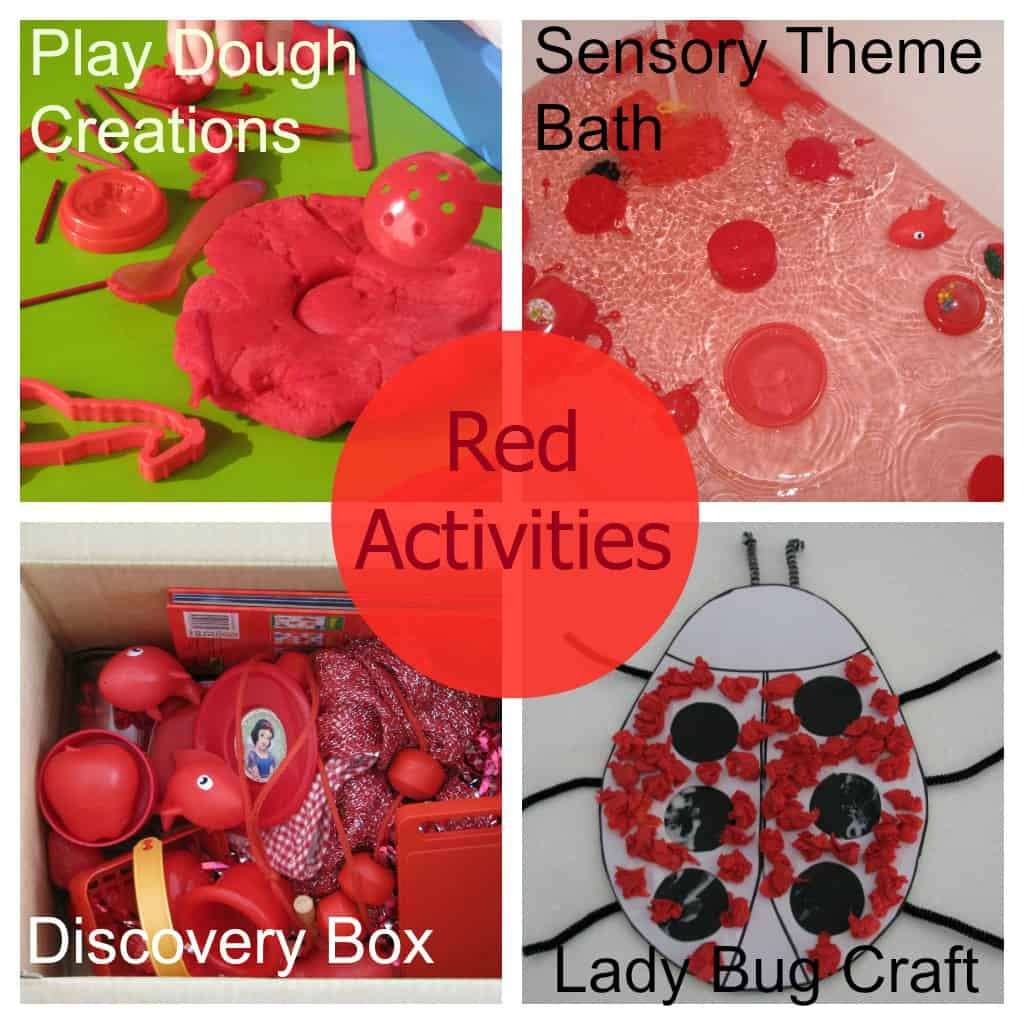 Colour shades activities - Colour Color Red Activities