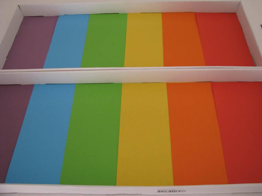 Rainbow Tray Bake Own Rainbow Salt Tray