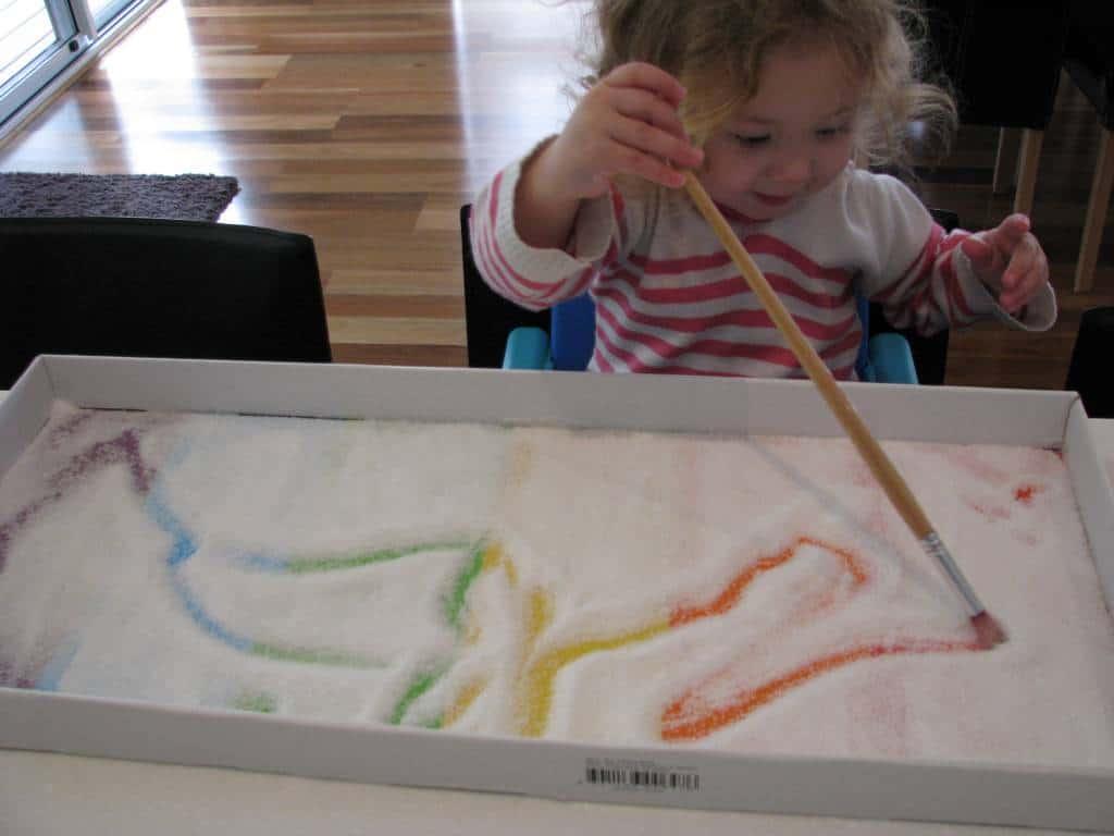 Rainbow Salt Tray Learning 4 Kids
