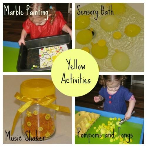 yellow activities for kids