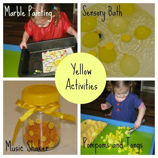 yellow activities for kids - Colour Activities For Toddlers