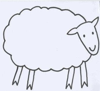 Click here to download and print: Printable The Green Sheep Outline