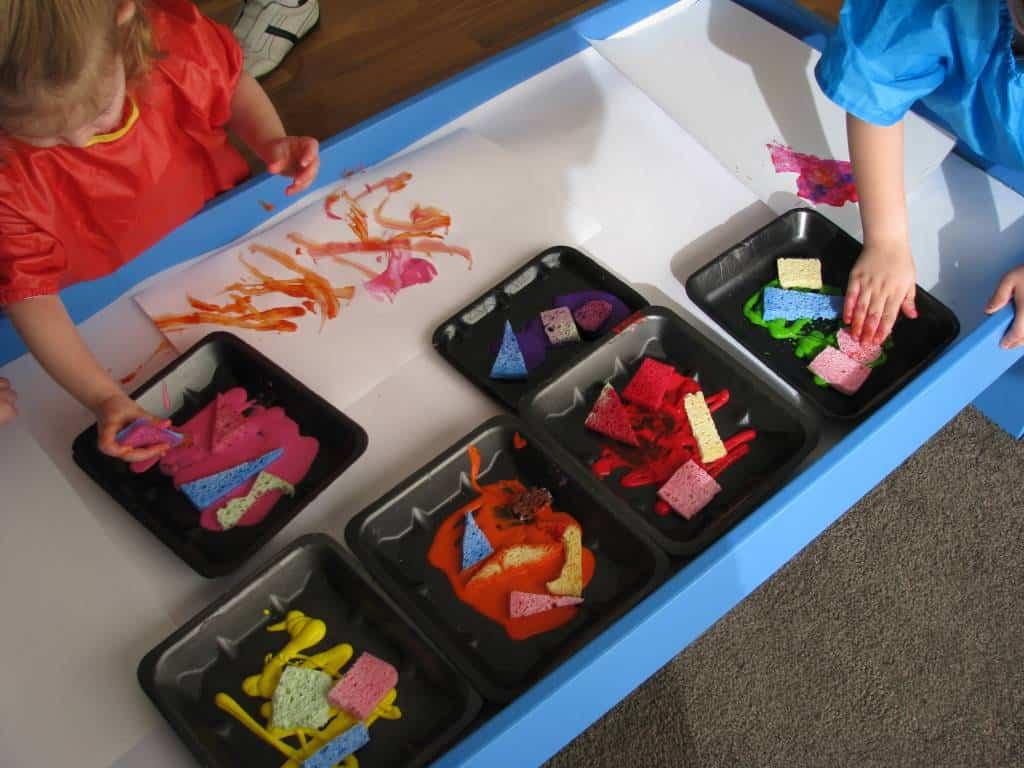 Sponge Painting | Learning 4 Kids