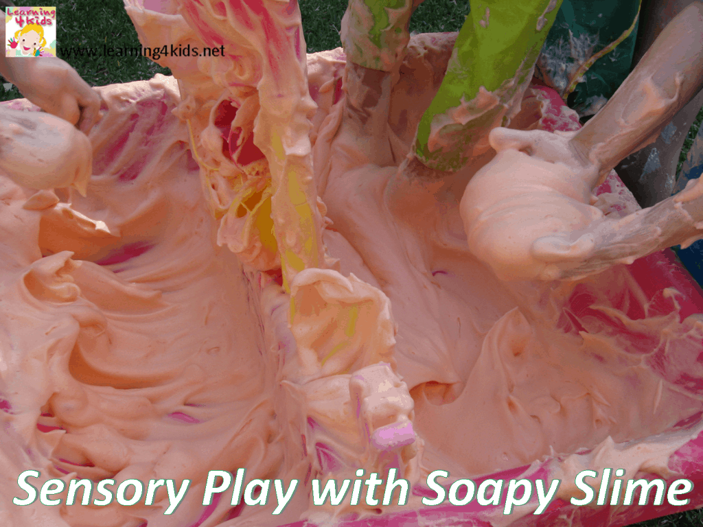 Soapy slime fun learning 4 kids how to make slime ccuart Image collections