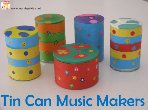 Simple Homemade musical instruments for kids and toddlers by Learning 4 Kids