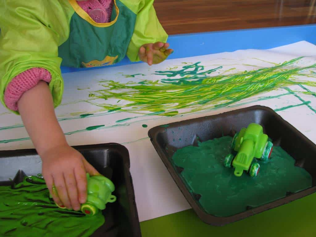 Green Lamp Painting : Where is the green sheep learning kids