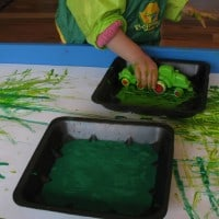 green coloured activities