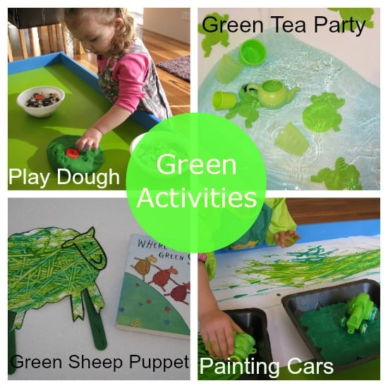 colour green activities learning colours - Colour Activities For Kids