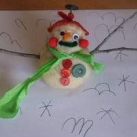 how to make a play dough snowman