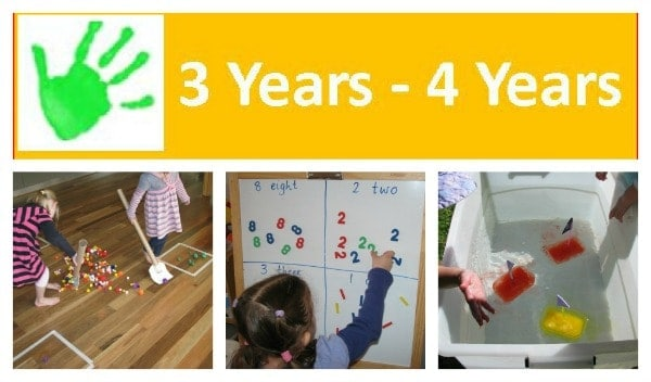 Activities and play ideas for 3 year olds and 4 years olds