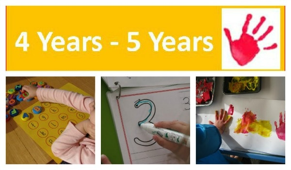 activities and play ideas for 4 year olds and 5 year olds