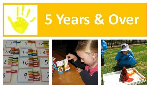 Activities and play ideas for 5 years olds, 6 year olds and over