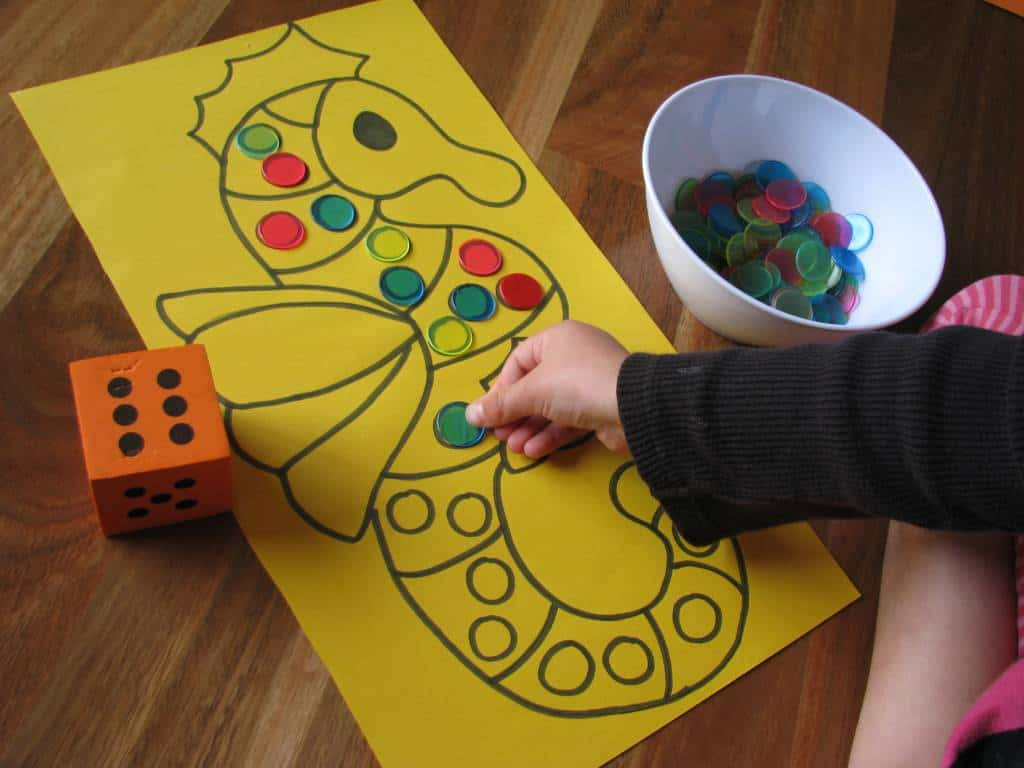 Counting and subitising learning 4 kids for Educational crafts for toddlers