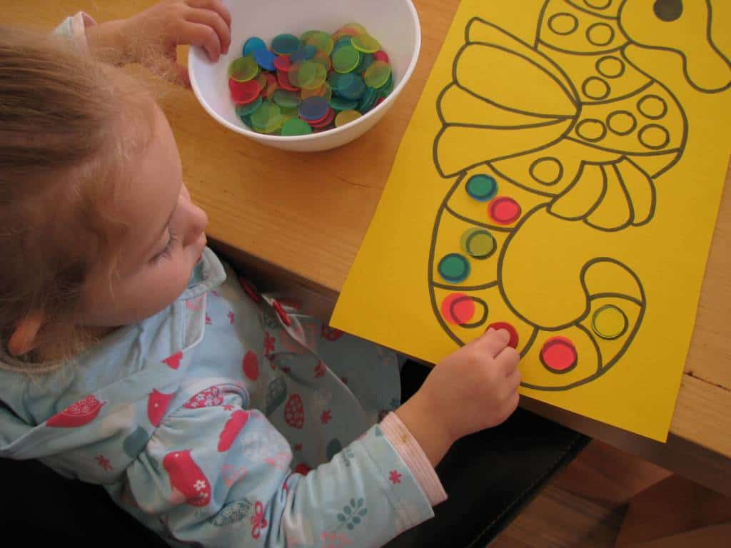 Counting and subitising learning 4 kids for Arts and crafts for a 1 year old
